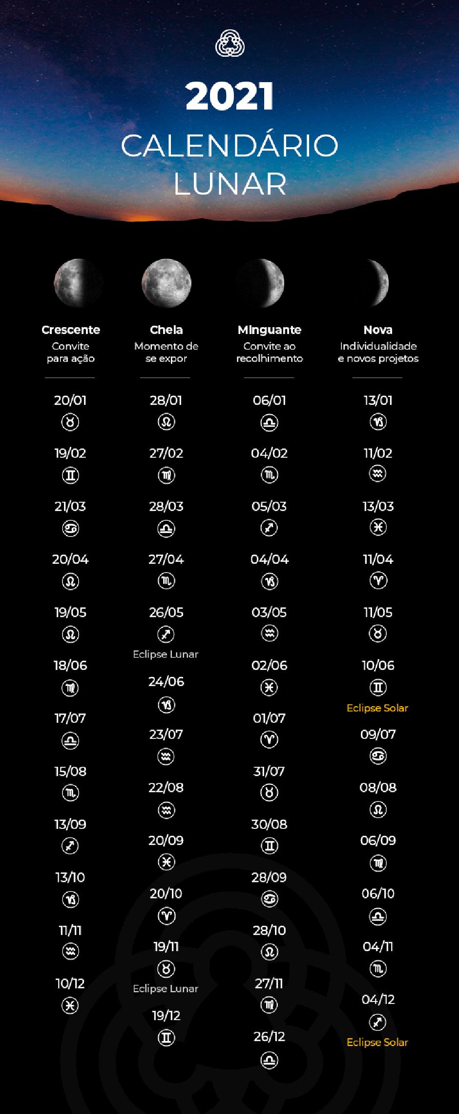 calendário lunar 2021